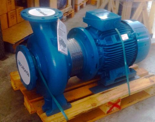 Pompa centrifuga a giunto rigido e motore normalizzato