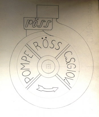 Pompa centrifuga anni 60  corpo aspirante